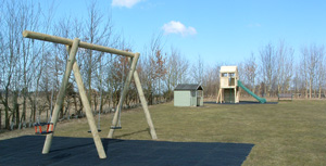 Family holiday cottages with play area and ground